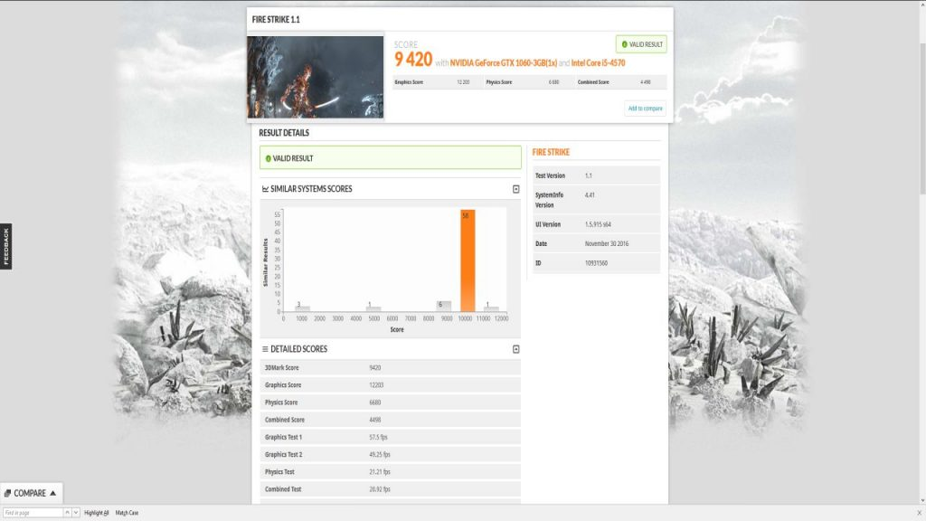 3dmark professional firestrike 1.1 benchmark